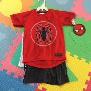 Other - NWT spiderman boys 3 pcs outfit set